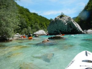 Kayak full immersion in Slovenia @ Trnovo ob Soci