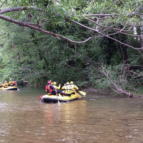 Rafting in the natural reserves of the Merse