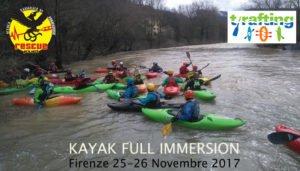 Corso integrale KAYAK FLUVIALE con RESCUE PROJECT @ San Jacopo al Girone presso base T-Rafting