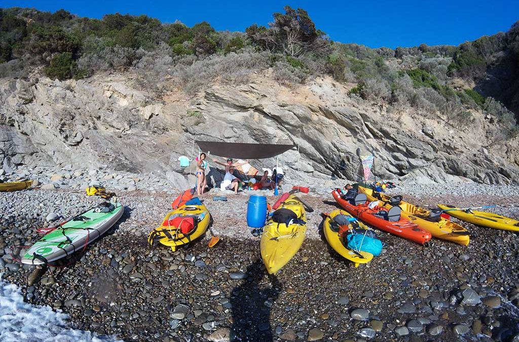 Kayak in Cala Violina and Bandite di Scarlino