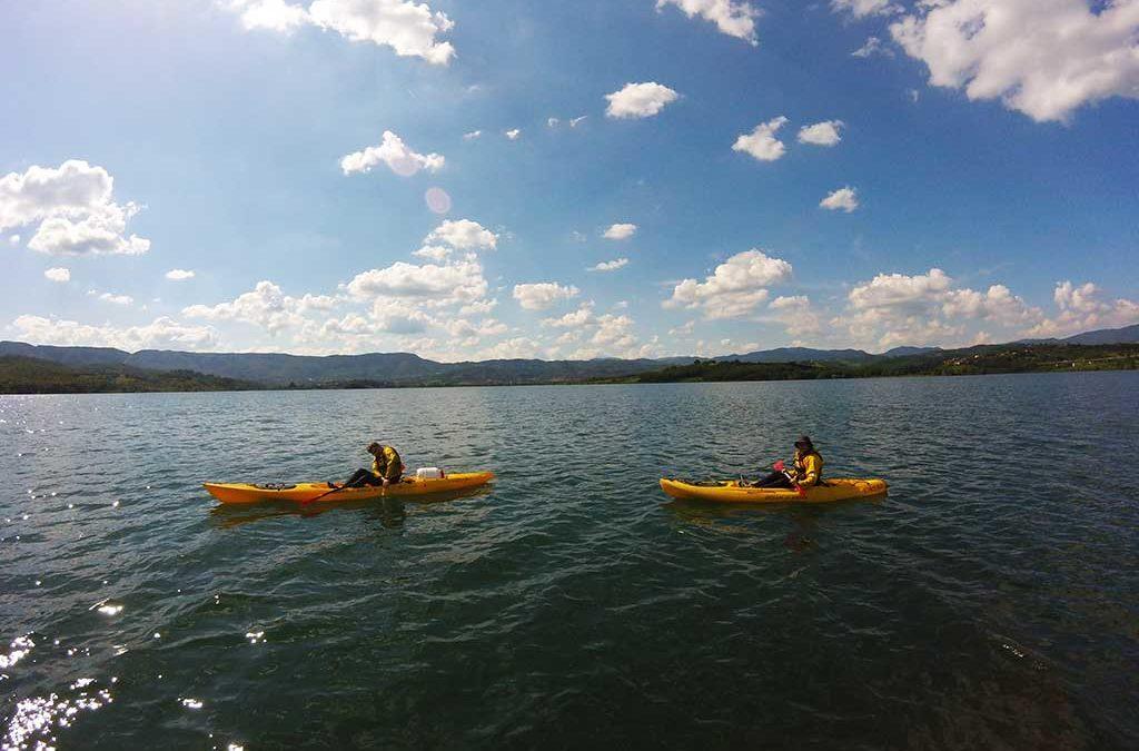 Kayak sul Lago di Bilancino