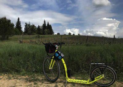 Footbike sulla Via Francigena